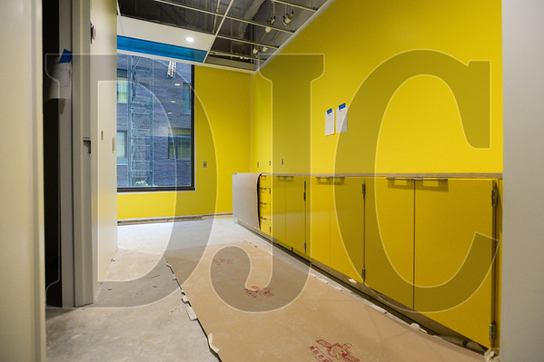 Employee break rooms in Multnomah County's Gladys McCoy Health Department Headquarters will have a bright yellow decor. (Josh Kulla/DJC)