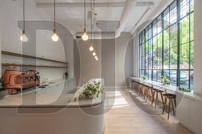The lobby of CommonGrounds Workplace's Pearl District location includes an espresso bar. (Josh Kulla/DJC)