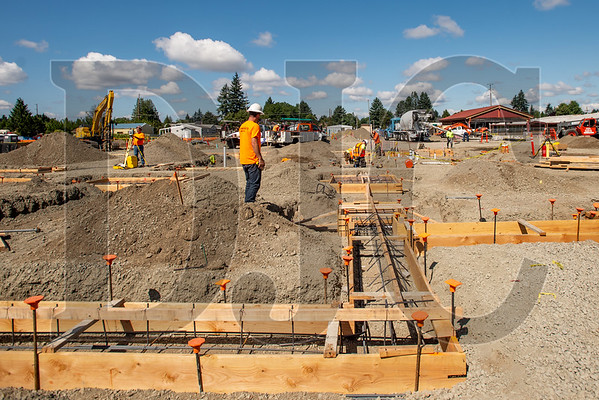 Nearly half of the footings have been poured for the 62,000-square-foot school. (Josh Kulla/DJC)