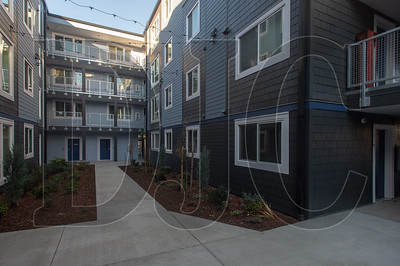 The 51-unit Charlotte B. Rutherford Place in North Portland is one of three affordable housing developments from Central City Concern coming online as 2019 approaches. (Josh Kulla/DJC)