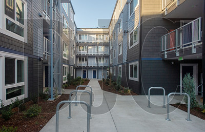 The 51-unit Charlotte B. Rutherford Place apartment building was designed by Doug Circosta Architect and built by Silco Construction. (Josh Kulla/DJC)