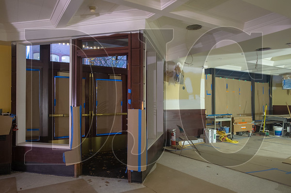Wood paneling in the entrance to the new Mother's Bistro is being refinished and will remain in place.
