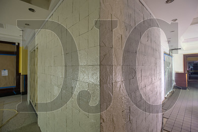 New stonework will feature prominently in the new Mother's Bistro Restaurant being built in renovated space on the ground floor of the Embassy Suites by Hilton hotel.