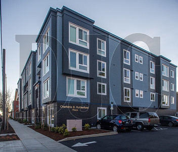 The 51-unit Charlotte B.  Rutherford affordable housing project opened last week in North Portland. It was designed by archtitect Doug Circosta and built by general contractor Silco Construction. (Josh Kulla/DJC)