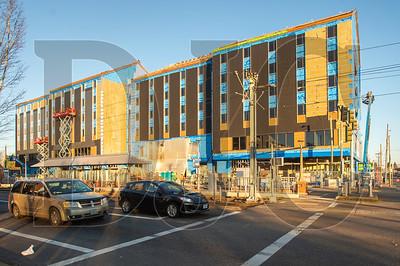 Central City Concern's Blackburn Center in Northeast Portland is slated for completion next July.(Josh Kulla/DJC)