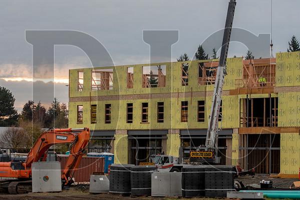 Building A is scheduled for completion next summer. (Josh Kulla/DJC)