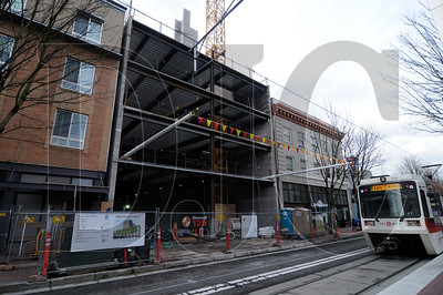 The seven-story Macdonald Center is being built on Northwest Sixth Street in Portland by Howard S. Wright.