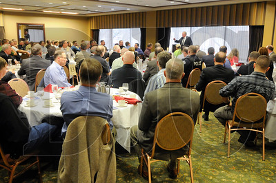 Members of the construction and law enforcement communities gather at the Multnomah Athletic Club for the CICP Awards Luncheon Feb. 12.