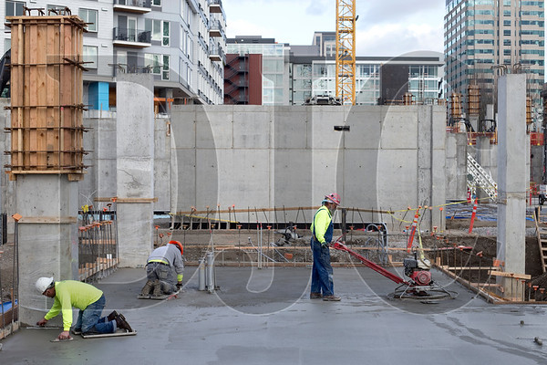 Construction began last summer on the $240 million Hyatt Regency Portland at the Oregon Convention Center project.