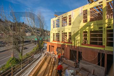 Koz on SW Fourth Avenue overlooks Interstate 405 and Portland's West Hills. (Josh Kulla/DJC)
