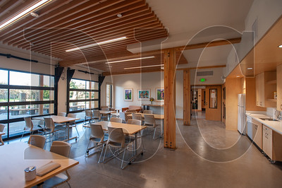 A large community room on the ground floor opens to the outdoors and the courtyard, providing a natural transition space between the two. (Josh Kulla/DJC)