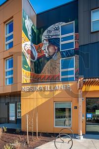 Portland artist Toma Villa created this huge, two-story mural for Nesika Illahee. (Josh Kulla/DJC)