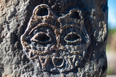 """Lillian Pitts incorporated imagery from her """"She Who Watches"""" series into the stone installation she created for Nesika Illahee. (Josh Kulla/DJC)"""