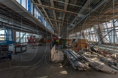 Crews are currently working on both the interior and exterior of the new Concourse E, which will add six new gates for Southwest Airlines and a host of amenities. (Josh Kulla/DJC)