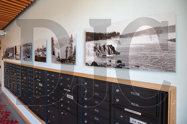 Historic photographs of traditional Native American fishing grounds such as Celilo Falls on the Columbia River are featured prominently inside Nesika Illahee. (Josh Kulla/DJC)