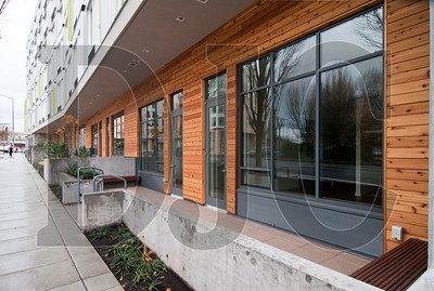 The Union, a 185-unit mixed-use project in the Lloyd District, opened earlier this month. (Sam Tenney/DJC)