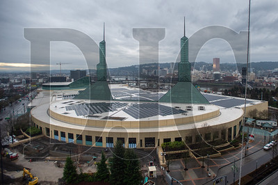 South-facing rooms will feature views of the convention center and downtown Portland. (Josh Kulla/DJC)