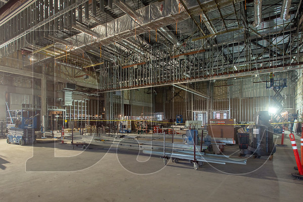A 12,665-square-foot main ballroom is a centerpiece of the hotel. In all, the building will include a total of 32,000 square feet of ballroom and meeting space. (Josh Kulla/DJC)