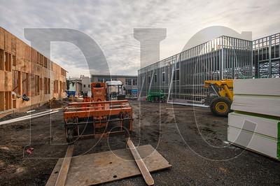 A secure interior courtyard for staff and student use is being built as part of the Tigard High School expansion. (Josh Kulla/DJC)
