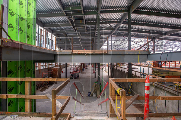 The new auxiliary gymnasium will include an elevated walkway around the perimeter. (Josh Kulla/DJC)