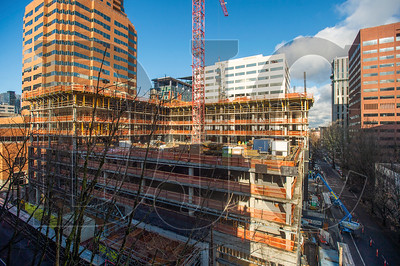 The 20-story tower will contain 349 residential units. (Josh Kulla/DJC)