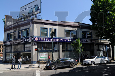 The United Clothing Building, a 4,124-square-foot structure at 219-233 West Burnside Street, is for sale for $699,000.