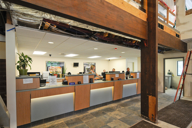 McKenzie Commercial Contractors, Inc. is renovating a Northwest Portland branch of Selco Community Credit Union, which merged last year with the building's previous tenant, Forest Park Federal Credit Union. Work is being done in four phases to allow the credit union to stay open. Improvements include new windows, flooring, HVAC and duct work,  a new roof, and the installation of an elevator and an ATM enclosure. The project was designed by Loren Berry and Bill Shaw at Loren Berry Architect, and is slated for completion in late August.
