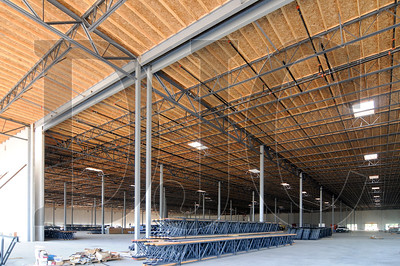 Perlo Construction is building a pair of industrial buildings near Portland International Airport as part of Capstone Partners LLC's PDX Logistics Center project.