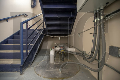 New water pumps have been installed in the building to deal with an ongoing water intrusion problem. (Josh Kulla/DJC)