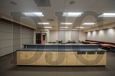 The original employee cafeteria has been partitioned in half to make space for additional county commission meeting space. (Josh Kulla/DJC)