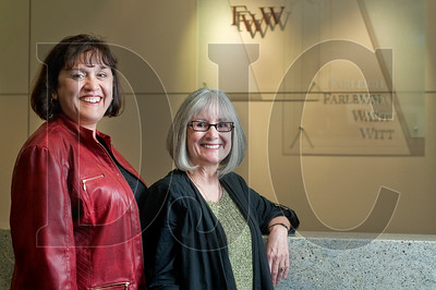 Paralegals Olga Clouser, left, and Beverly Thomas will be soon be retiring from Farleigh Wada Witt.