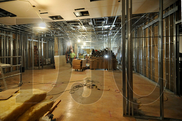 General contractor Swinerton Builders is performing a remodel of the Gap store at Pioneer Place in Southwest Portland.  Among the updates in the two-phase renovation are a new store portal, hardwood floors, lighting, and stock room racking systems.