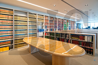 The firm's law library was significantly downsized before the move, freeing up valuable square footage.