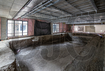 A swimming pool is under construction on the buidling's ground floor. (Sam Tenney/DJC)