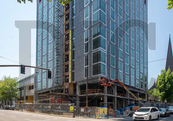 The 215-room Hyatt Centric Portland hotel project is roughly six months away from substantial completion. (Josh Kulla/DJC)