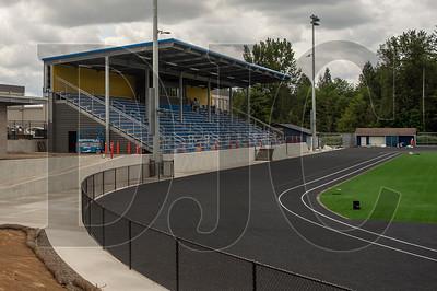 The $54 million project includes a new grandstand and turf field. (Josh Kulla/DJC)