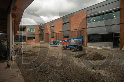 An interior courtyard will provide natural light to classrooms not on the perimeter of the building. (Josh Kulla/DJC)