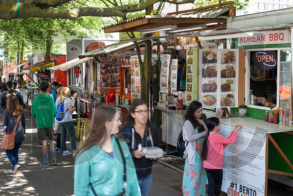 Food cart owners on the Block 216 site in downtown Portland will have to vacate the property by June 30. (Sam Tenney/DJC file)