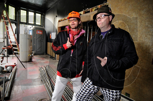 "Voodoo Donut owners Tres Shannon, left, and Kenneth ""Cat Daddy"" Pogson are renovating their popular downtown Portland shop."