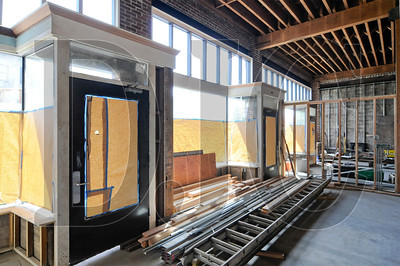 Reworks, a development and design/build firm, is performing a tenant improvement on a building at 4703-4707 N. Albina St. The 2600-square-foot building was renovated last year when Reworks purchased it with the intention of dividing the space into two commercial units and selling them separately. Motion production studio Cardboard Castle recently purchased the entire building, which will be expanded to 3100 square feet via a mezzanine being constructed to house a sound booth, server room, and editing bay.  Other work on the project includes installation of a conference room with metal framed glass window walls, a kitchen/break room featuring subway tiles and stainless steel shelving, and two ADA bathrooms, as well as new electrical systems, floors, and finishes. Work on the project began in March, and completion is targeted for mid-June.