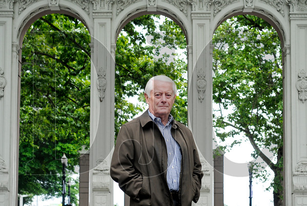 Bill Hawkins, an architect, historian, and author of a book on the history of cast iron in Portland architecture, remains hopeful that a collection of cast-iron building pieces from the Eric Ladd collection will be reused in the Skidmore/Old Town area. (Sam Tenney/DJC)