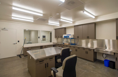 A secure evidence room is equipped for some laboratory analysis and storage. (Josh Kulla/DJC)