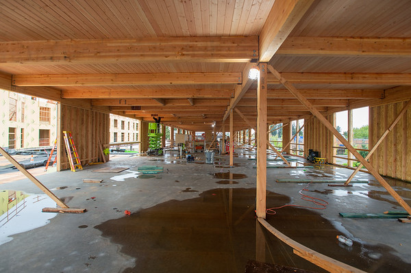 The second story of the commercial wing of the building will house office space for Human Solutions. (Josh Kulla/DJC)
