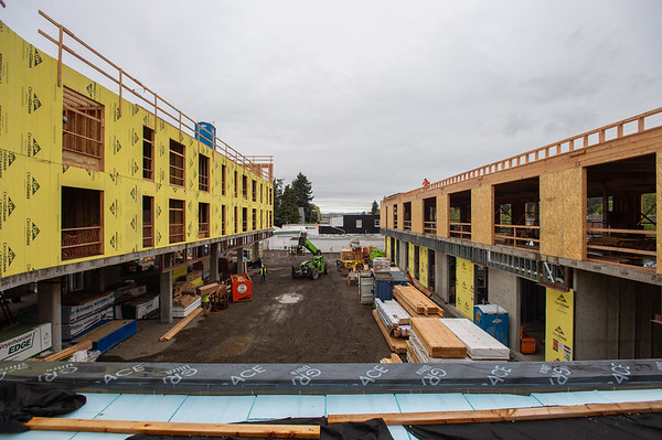 The building's two wings wrap around a central courtyard. (Josh Kulla/DJC)
