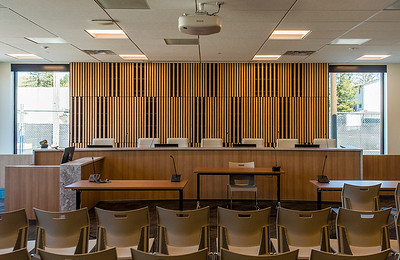 City council chambers will double as municipal court space at the new Gladstone Civic Center. (Josh Kulla/DJC)