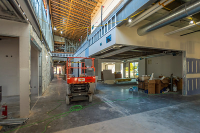The main corridor connecting the entrance with the two large wings of the building features a vaulted, two-story ceiling. (Josh Kulla/DJC)