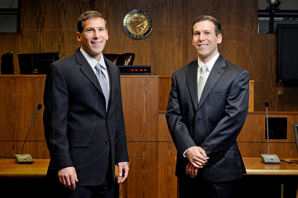 David Eder, left, assistant city attorney for the city of Beaverton, and Ben Eder, right, a defense attorney with Thuemmel & Uhle.