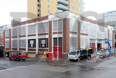 Joseph Hughes Construction is renovating the 93-year-old Fisk Tire building at 380 N.W. 13th Ave. (Sam Tenney/DJC)