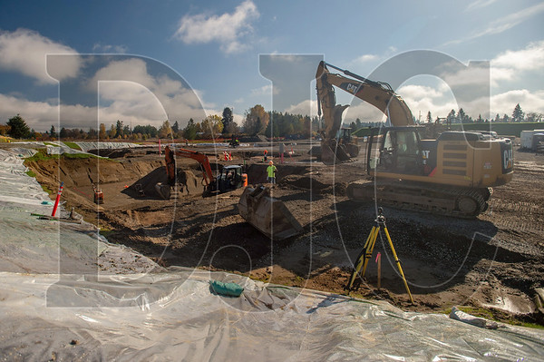 Tapani Underground crews perform site work at Vancouver Public Schools'  iTech Preparatory Academy project. (Josh Kulla/DJC)