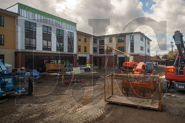 A courtyard will provide residents with a place to relax away from the busy Tualatin Valley Highway on the other side of the building.